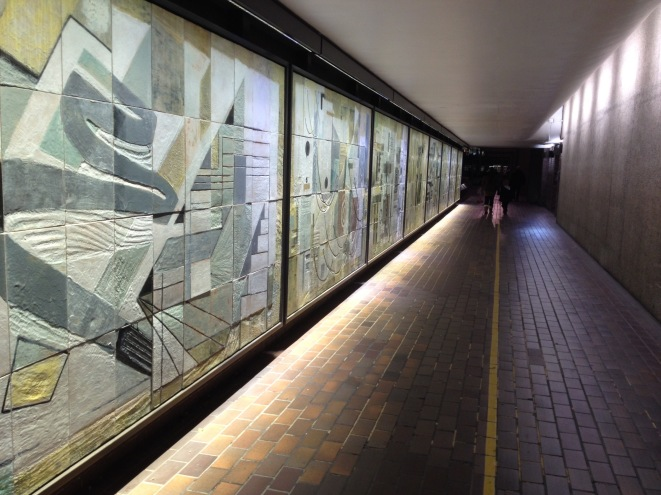 Dorothy Annan mural Speed Highwalk Barbican Estate