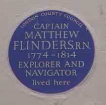 Flinders Plaque Fitzroy Street