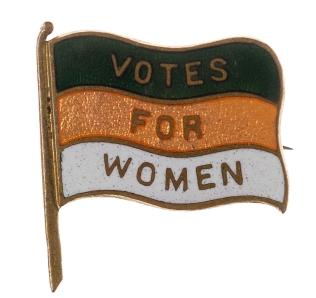 Women's Freedom League badge, c. 1907 image courtesy of TWL